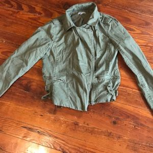 Green Charlotte Russe Utility Jacket Size XS